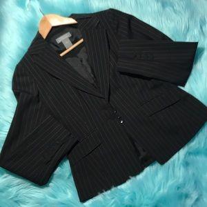 Ann Taylor Black pinstripes blazer size 2P